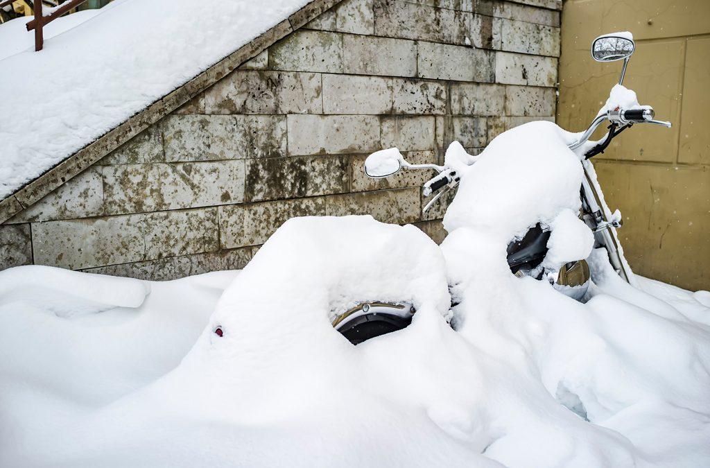 conducir moto nieve